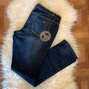 Vintage🧚♀️Y2K jeans distressed bejewelled straight jeans size 13